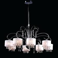 8 light contemporary chandelier with crystal drops and fabric shade replacement shades full size