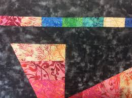June 2017 – koolkat quilting & Ursula's charcoal background quilt is being quilted wit the fern gully e2e  machine quilting pattern, while Jennifer chose sticky buns in a teal thread  for ... Adamdwight.com