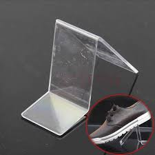 Retail Shoe Display Stands Acrylic V Shape Shoe Shop Retail Display Stand Rack Shelf on 2