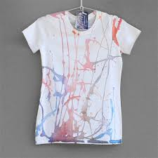 organic cotton t shirt hand painted for woman or girl