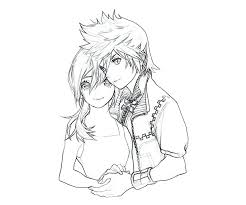 Anime Couple Coloring Pages Chibi Couples Cute