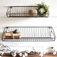 ludovic wire wall shelves set of 2 antique farmhouse