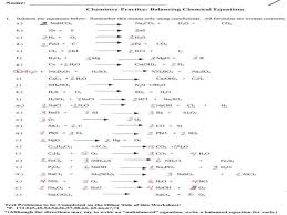 balancing chemical equations worksheet answers 2 answer key a