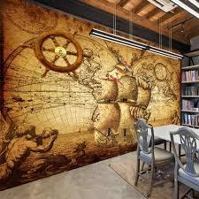 Retro Nostalgia Poster <b>3D Room Wallpaper Custom</b> Mural Non ...