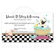 Pet Sitter Business Cards Cute Poodle And Dog Bathtub Grooming Pet Sitting Business Card