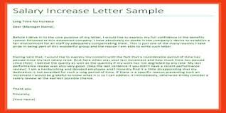 Requesting A Salary Increase Sample Salary Increment Letter Request For Manager