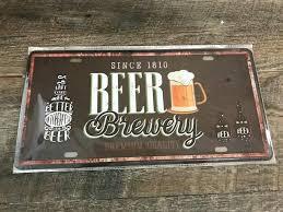 beer premium quality metal tin sign galvanized signs custom