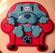 blues clues thinking chair for sale. Blues Clues Plastic 10 Piece 3D Tray Puzzle Thinking Chair Dog 1998 Hard To Find For Sale
