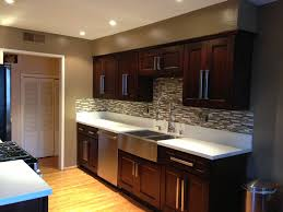 Contemporary Kitchen Cabinet Doors Contemporary Kitchen With Flush Stainless Steel Apron Sink