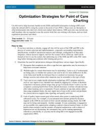 Point Of Care Charting 6 Optimization Strategies For Use Of Ehr And Hie In