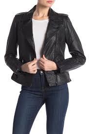 badgley mischkaasymmetrical moto leather jacket