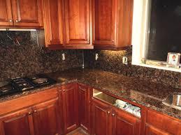 Kitchens With Dark Granite Countertops Kitchen Dark Brown Scheme On Kitchen With Mostly Wood Materials