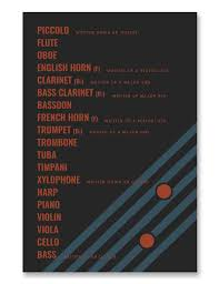 Transposition Chart Orchestral Instruments Transposition Chart Poster Black
