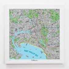 See website for more info. Hand Drawn Map Of Melbourne Evermade