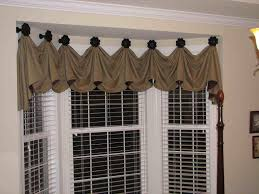 Window Treatment For Bay Windows In Living Room Bay Window Treatments Minus The Dated Patterns And Swag