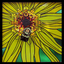 Stained Glass Pattern Delectable Large Stained Glass Patterns Bee On Sunflower Sunlight Studio