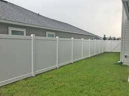 Vinyl fencing White White Vinyl Fencing Jacksonville Featured Installation North Florida Fence Company Peerless Fence White Vinyl Fencing Jacksonville Featured Installation North
