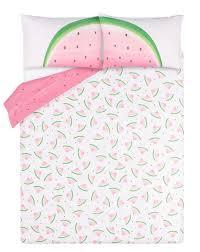 asda watermelon easy care reversible duvet set