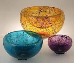 glass bubble bowl birds nest bubble bowl by and graham art glass bowl artful home glass glass bubble bowl