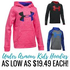 under armour on sale. the boys and girls under armour hoodies are an awesome deal, these on sale for $26.99 each, you can mix match with pants.