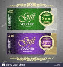 gift certificate for business gift voucher template with colorful pattern cute gift voucher stock