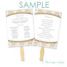 program samples archives my invitation templates for diy burlap and lace rustic wedding program fan template sample