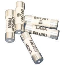 5 x 5 amp consumer unit or fusebox cartridge fuses bs1361 c55 la5