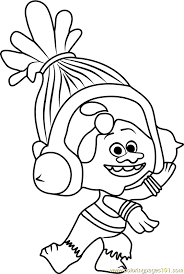 Small Picture DJ Suki from Trolls Coloring Page Free Trolls Coloring Pages