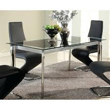 chintaly tara extendable glass dining table in chrome tara dt blk chintaly tara extendable glass dining