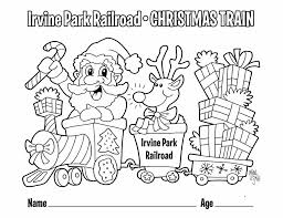 This is how the cycle of receiving gifts on christmas this coloring sheet features santa with a cute stocking. Children S Coloring Page Irvine Park Railroad