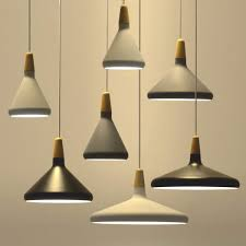 nordic lighting modern pendant lights e27 aluminum wood italian lamp home restaurant counter decoration lighting malaysia