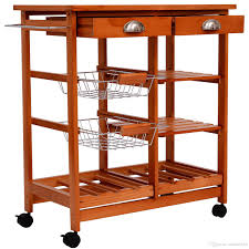 Kitchen Trolley 2017 Tall Kitchen Trolley Cart Wood Rolling Dining Storage Stand