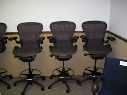 Buy Used Herman Miller Aeron Loaded Drafting Stool By Beverly Aeron Office Chair Used