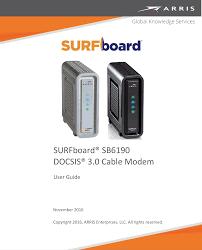 Arris Sb6190 Online Light Blinking Arris Sb6190 Surfboard Cable Modem User Guide Manual Sb6190