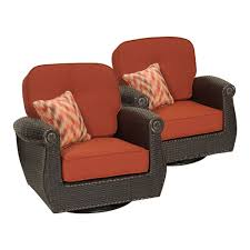 Resin wicker swivel patio chairs with cozy cushion for outdoor furniture ideas