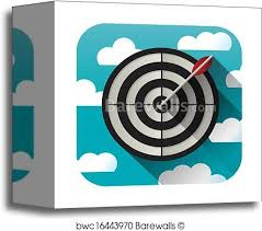 target canvas prints. Delighful Canvas Canvas Print Of Target Practice Icon And Prints E