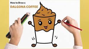 Draw a coffee it isn't hard an now i'll teach you. How To Draw So Cute Dalgona Coffee Youtube