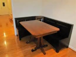 wood dining tables rustic solid trestle table pine cherry nook previous amish dining room sets amish breakfast nook set