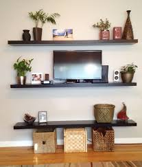 Shelves Living Room Living Room White Wooden Living Room Floating Shelves With