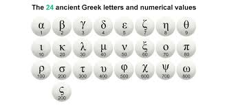 Hebrew And Greek Alphabet And Numerical Values Divisions