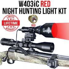 Coyote Hunting At Night With Red Light Wicked Lights W403ic Red Night Hunting Light Kit For Coyotes Hogs Foxes W2013