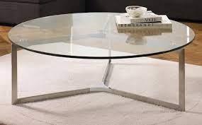 circle glass coffee table circle