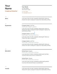 Resume Template Google Docs Fascinating Google Docs Resume Template Use These Templates Standard