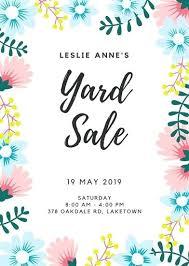 Free Yard Sale Flyer Template Yard Sales Flyers Yard Sale Poster
