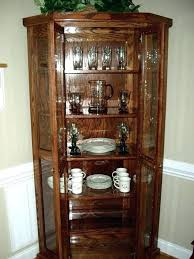 contemporary china cabinet modern with etched glass doors by hutch corner