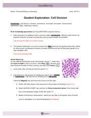 Cell division gizmo answer key pdf.this is an activity which combines elements from the cell division (mitosis) gizmo with the ap investigat. C Based On These Two Observations Would You Say That A Cell Spends Most Of Its Course Hero