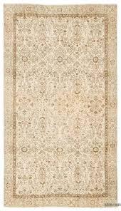 beige over dyed turkish vintage rug 5 3 x 9