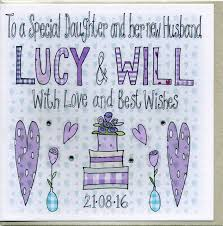 personalised special daughter wedding card by claire sowden design Handmade Wedding Cards For Daughter And Son In Law personalised special daughter wedding card Anniversary Son and Daughter in Law