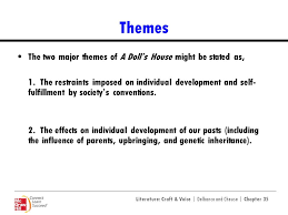 a doll s house henrik ibsen ppt video online  themes the two major themes of a doll s house might be stated as