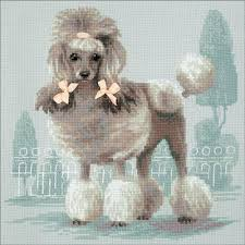 Poodle Counted Cross Stitch Kit